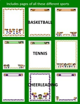 Editable Classroom Forms & Substitute Information Sports Theme (Class Handbook)