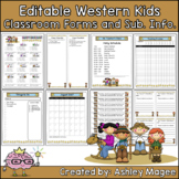 Editable Classroom Forms and Substitute Information - West