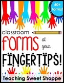 Classroom Forms at Your Fingertips!