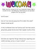 Classroom Forms for the Beginning of the Year