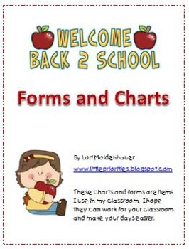 Classroom Forms for the Elementary Teacher