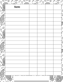 Classroom Forms you can COLOR