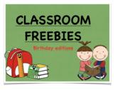 Classroom Freebies (Birthday Edition)
