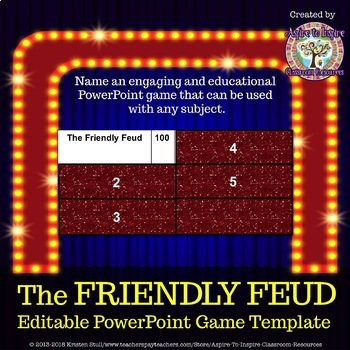 The Friendly Feud Classroom Powerpoint Game Template Based On