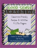 Classroom Friendly Recipes & Activities 4 Little Fingers