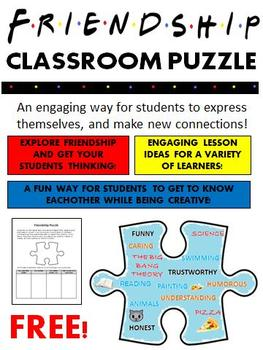 Classroom Friendship Puzzle (FREE)