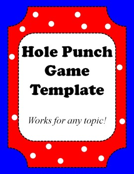 Classroom Fun: Hole Punch Game Template For Any Topic