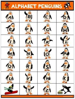 Classroom Fun Poster: Alphabet Penguins