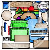 Classroom Furniture Birdseye Clipart Bundle