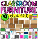 Classroom Furniture Clip Art (Digital . Virtual . Online)