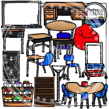 Classroom Furniture Clipart (School Clipart)