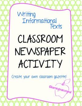 Classroom GAZETTE Package!