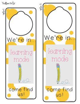Classroom GPS Doorknob Hangers