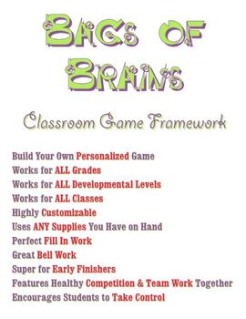Classroom Game Framework - All Grades, Subjects - Customize Your Way