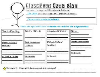 Classroom Game Plan
