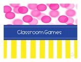 Classroom Games Set 1