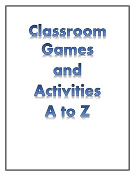 Classroom Games and Activities
