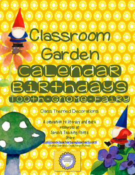 Back to School Garden Decoration for Calendar, Birthdays, Gnome Toothfairy