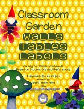 Classroom Garden Themed Decorations -Reading Labels, Shapes, Colors- Start Right