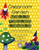 Gnome Classroom Garden Themed -Back to School Reading Labels, Shapes, Colors