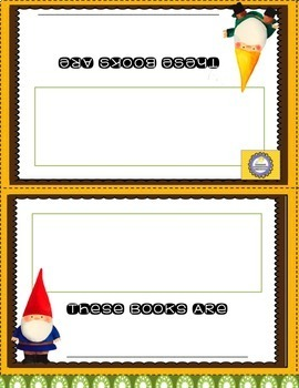 Gnome and Garden Theme Decor -Back to School Reading Labels, Shapes, Colors