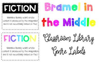 Classroom Genre Poster Printables