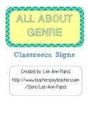 Classroom Genre Signs
