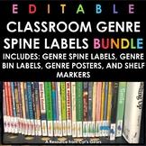 Classroom Genre Spine Labels BUNDLE