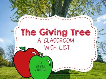 Classroom Giving Tree