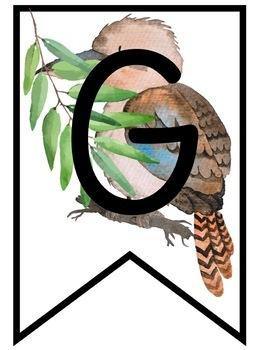 Classroom Goals Banners Australian Animals Theme