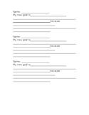 Classroom Goals Sheet