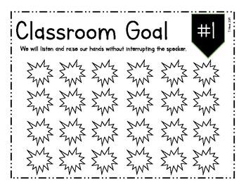 Classroom Goals Sheets
