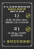 Classroom Golden Rules