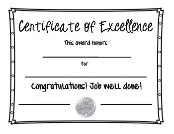classroom great job certificate by haily valachovic tpt