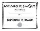 """Classroom """"Great Job"""" Certificate"""