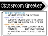 Classroom Greeter Guidelines Poster