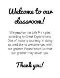 Classroom Greeter Sign