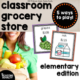 Grocery Store: Identifying Money, Making Change, Rounding,