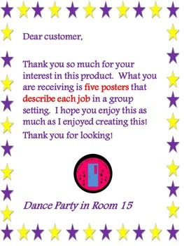 Classroom Group Jobs Posters