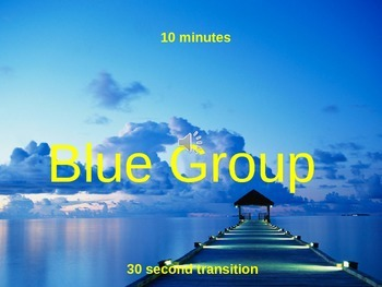 Classroom Group Rotations Timer 10 Minute [no interlude - POWERPOINT 2010 file]