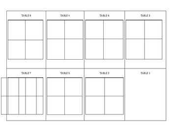 Classroom Group Seating Chart Art