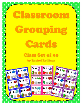 Classroom Grouping Cards