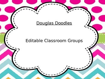 Classroom Groups Editable