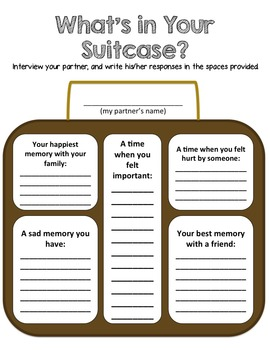 Classroom Guidance Lesson - Bullying Prevention - What's In Your Suitcase?