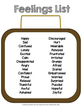 Classroom Guidance Lesson: Emotions - Unpacking Our Feelings