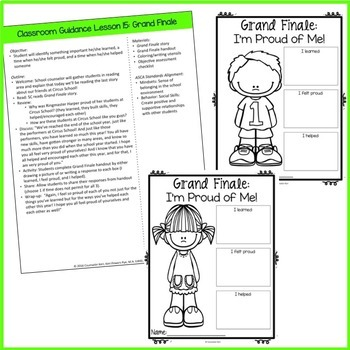 End of the Year Classroom Guidance Lesson for Pre-K and Kindergarten Counseling