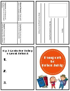 Classroom Guidance Lesson: Friendships - Passport to Friendship!