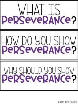 Classroom Guidance Lesson - Perseverance