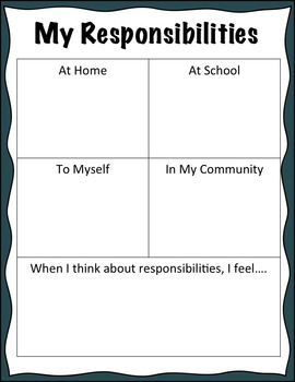 Classroom Guidance Lesson: Responsibility - Home, School, Community, and Myself!