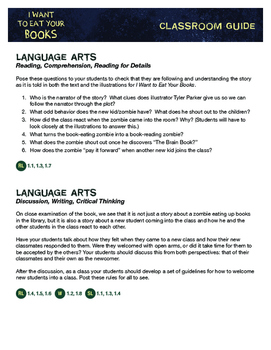 Classroom Guide for I WANT TO EAT YOUR BOOKS